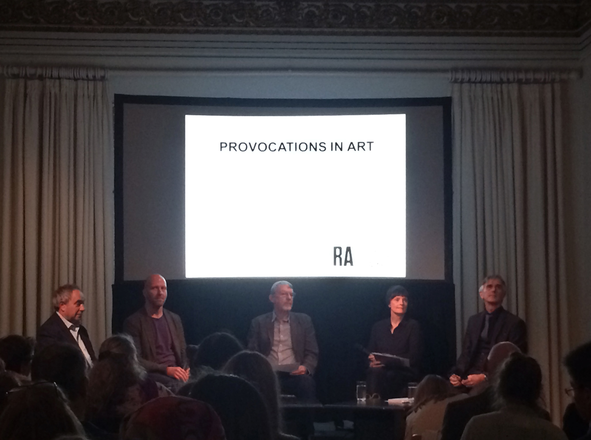 Provocations in Art: panellists at the Royal Academy.