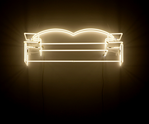 Tina Keane:  Couch (2001), neon sculpture.