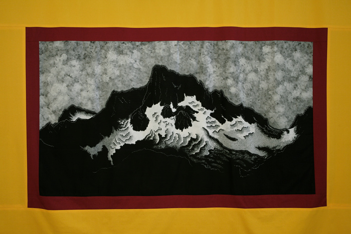 Mountain banner by John Dugger, at England & Co.
