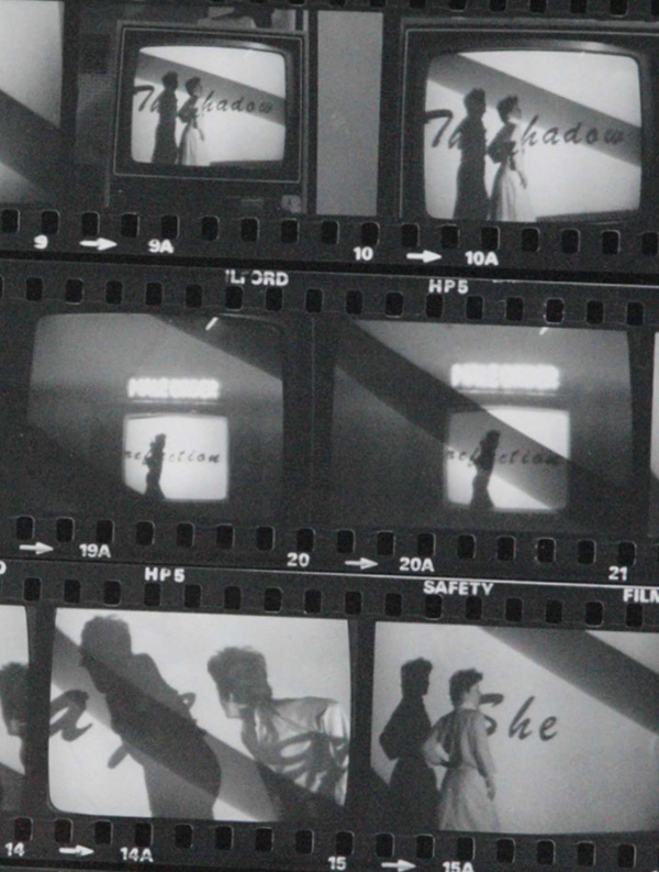 Tina Keane performance of She. Contact sheet, England & Co gallery.